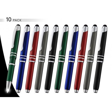 Lcd Pen - 3-In-1 Multi-Function Metal Pen Stylus Capacitive Pen for Touchscreen Devices Tablets,iPads,iPhones,With LED