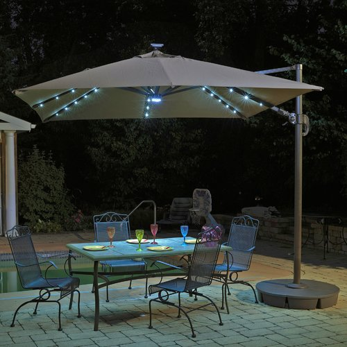 Blue Wave Products 10' Square Illuminated Umbrella by Blue Wave Products