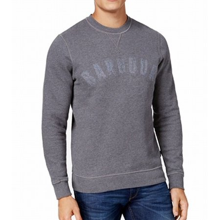 - Barbour NEW Heather Gray Mens Size Small S Logo Print Crewneck Sweater