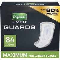 Depend Incontinence Guards for Men, Maximum Absorbency, 84 Count