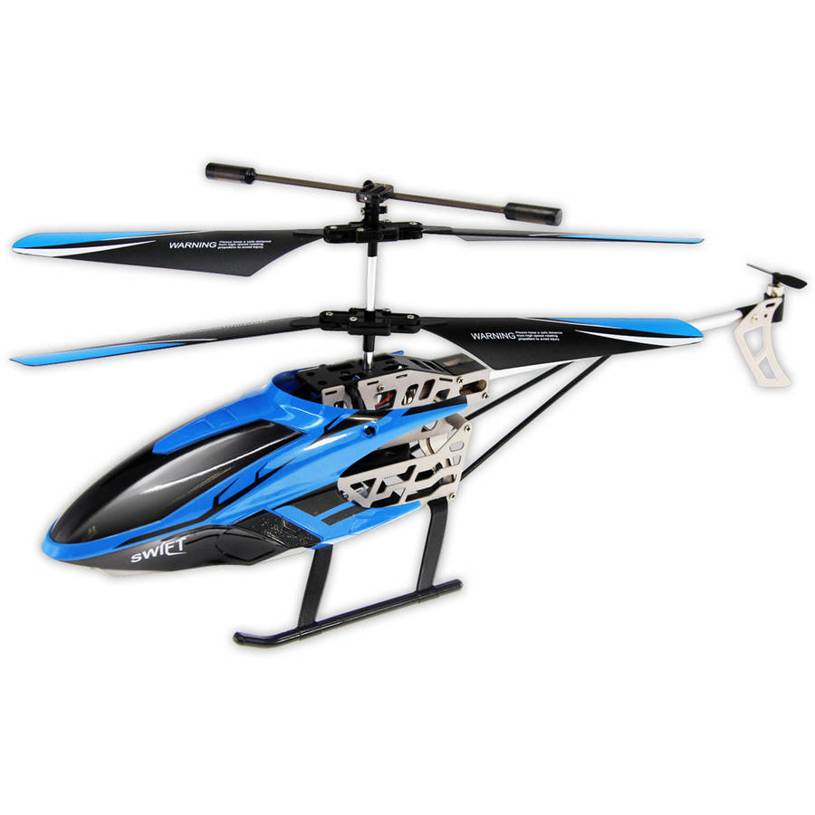 Swift Auldey Sky Rover IR 3 channel with Gyro Indoor Helicopter, Blue by ALPHA GROUP CO LTD