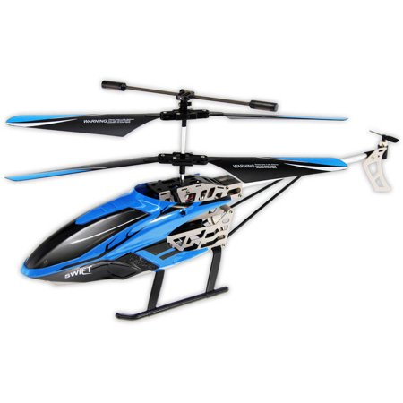 Swift Auldey Sky Rover IR 3 channel with Gyro Indoor Helicopter, Blue