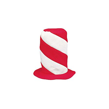 Peppermint Swirl Stovepipe Hat - Hats & Party Hats by Fun Express