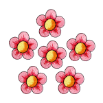Expo Int'l BaZooples Iron-on Patch Applique Flower Pack of 6