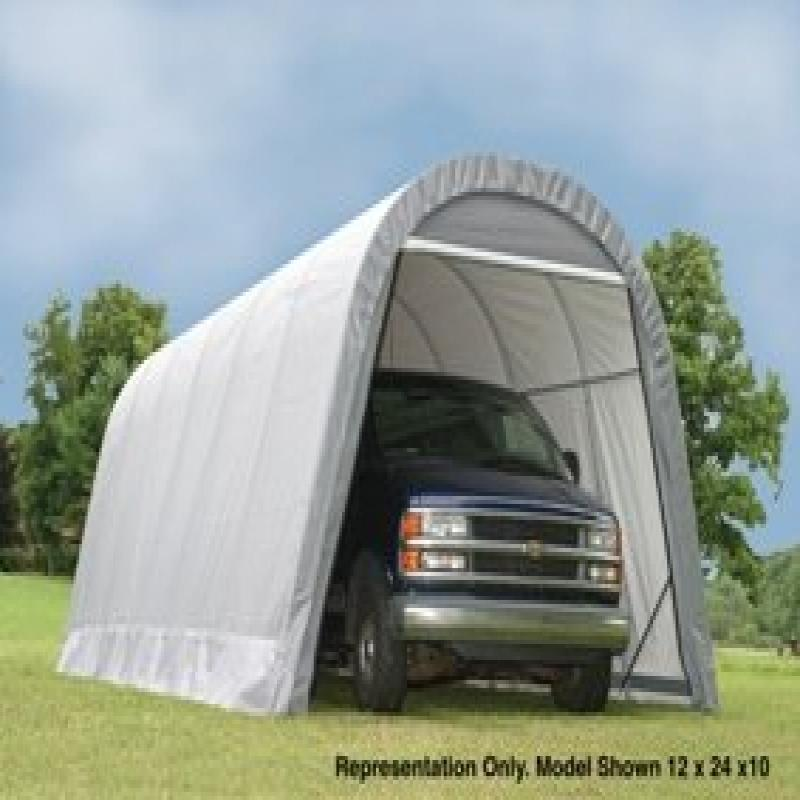 ShelterLogic 12 x 28 x 10 Round Top Canopy Carport
