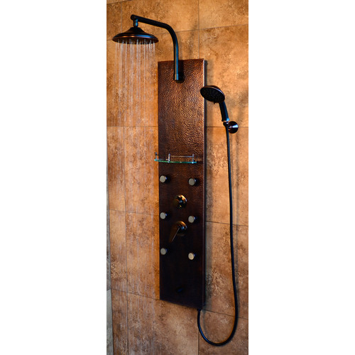 PULSE Sedona ShowerSpa Copper Shower Panel in Oil-Rubbed Bronze
