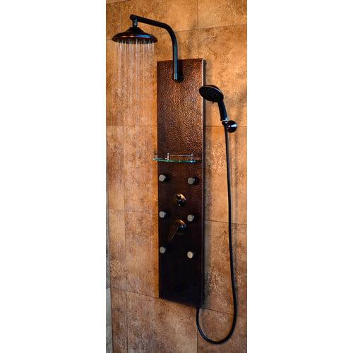 PULSE Sedona ShowerSpa Copper Shower Panel in Oil-Rubbed Bronze