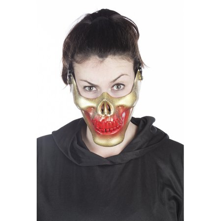 Adult's Mens Gold Skeleton Bone Skull Mouth Mask Costume Accessory for $<!---->
