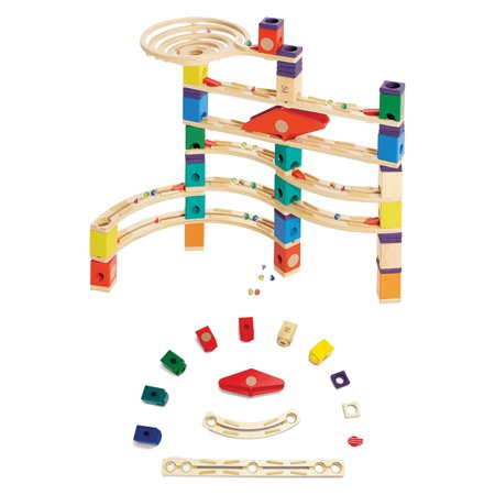 Hape Quadrilla Xcellerator Marble Run Race Maze Toy Building Set + Speedway Pack - Marble Racer