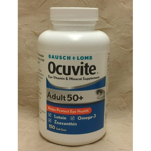 Ocuvite Eye Vitamin Adult 50+ Formula Eye Health Vitamins, 50 CT Soft Gels