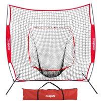 Zeny 7' x 7' Baseball & Softball Net w/ Bag - Practice Hitting Pitching Batting & Catching