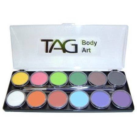 Tag Face Paint Palette Regular 12 Colors - Good Halloween Face Paint
