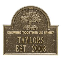 Personalized Whitehall Products Family Tree Anniversary/Wedding Plaque in Antique Brass