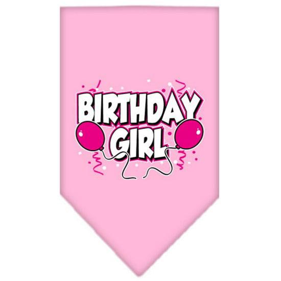 Birthday girl Screen Print Bandana Light Pink Small