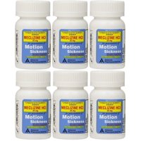 Meclizine 25 mg Generic Bonine Motion Sickness 100 Chew Tablets PACK of 6