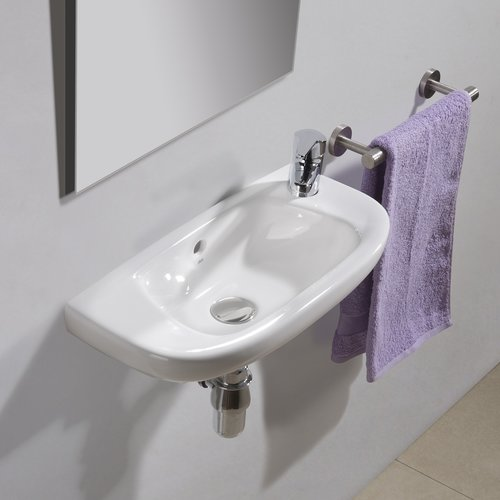 Bissonnet Universal Ceramic 20'' Wall Mount Bathroom Sink with Overflow