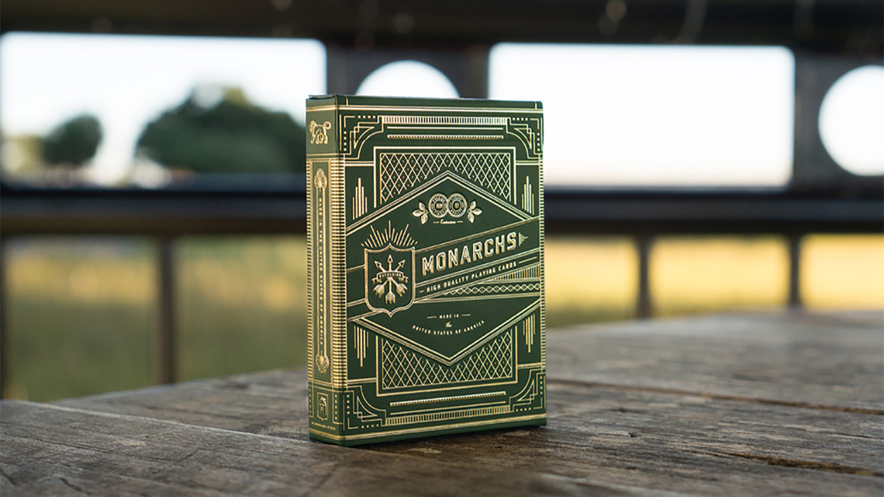Monarch Playing Cards (Green) by Theory 11 by