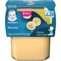 (Pack of 8) Gerber 2nd Foods Baby Food, Banana, 2-4 oz Tubs