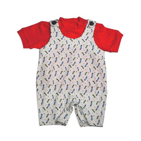 Snopea - Baby Boys Zoom Zoom Shortall WHITE / 18 Months