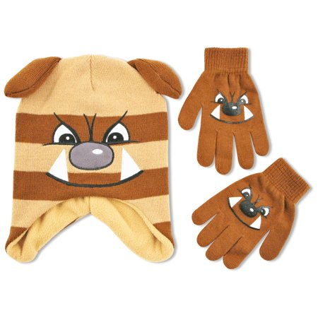 Dog Critter Hat and Glove Cold Weather Set, Little Boys, Age (Cold Weather Hats)