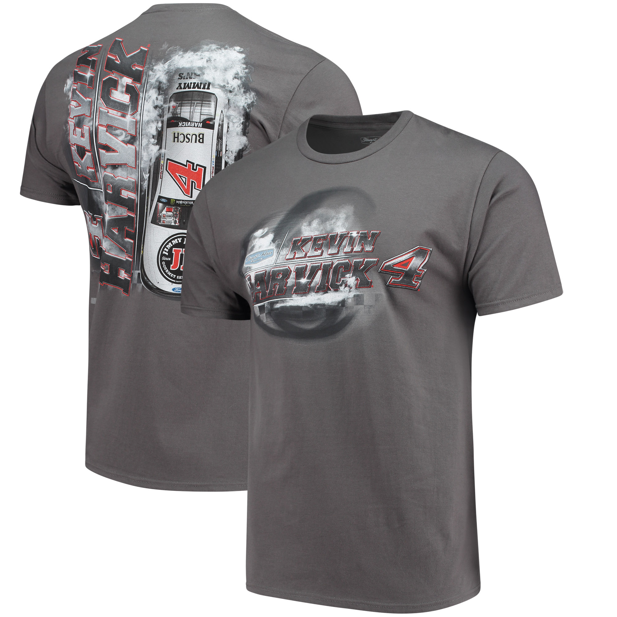 Kevin Harvick Steel Thunder Logo T-Shirt - Charcoal