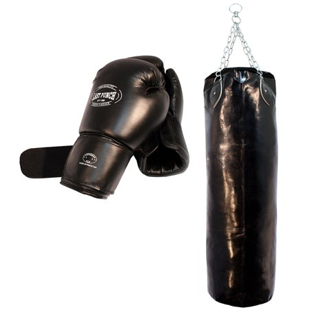 Last Punch Heavy Duty Pro Boxing Gloves & Pro Huge Punching Bag with