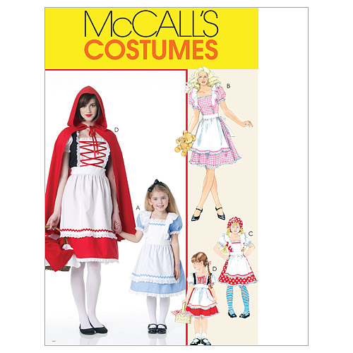 McCall's Misses', Children's and Girls' Storybook Costumes, KidsS (3, 4, 5, 6, 7, 8)