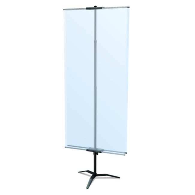 Testrite Visual Products BN3-TB-S Classic Banner Stands 36 in. Classic Banner Stand with Travel Base- Silver - image 1 of 1