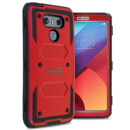 CoverON LG G6 / G6 Plus Case, Tank Series Hard Protective Armor Phone Cover
