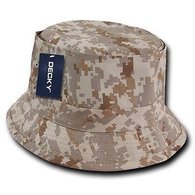 Desert Digital Camo Fishermans Fishing Sun Bucket Safari Hiking Boonie Hat L/XL](Camo Bucket Hats)