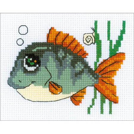 Smiling Fish Counted Cross Stitch Kit-6.25