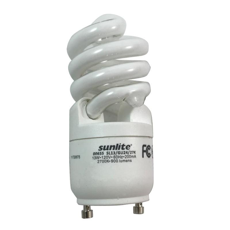 SUNLITE 13W 120V GU24 WW CFL Mini Twist Light Bulb