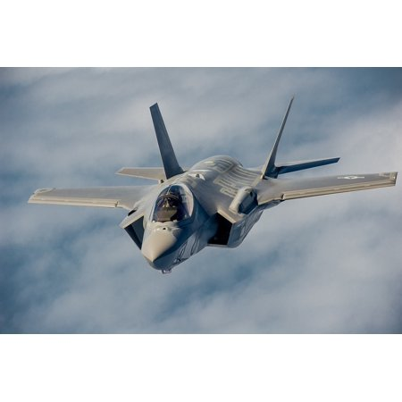 Laminated Poster Fighter Flight Military Jet Flying F-35 Airplane Poster Print 11 x