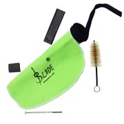 Musical Instrument Maintenance Cleaning Care Kit Set for Saxophone Clarinet Flute Including Mouthpiece Brush Cleaning Cloth Thumb Pad Reed Case Mini Screwdriver