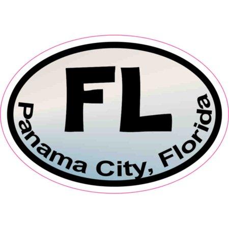 3in x 2in Pastel Oval FL Panama City Sticker Car Truck Vehicle Bumper - Party City Panama City Fl