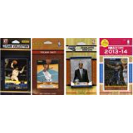 NBA Charlotte Bobcats 4 Different Licensed Trading Card Team Sets by