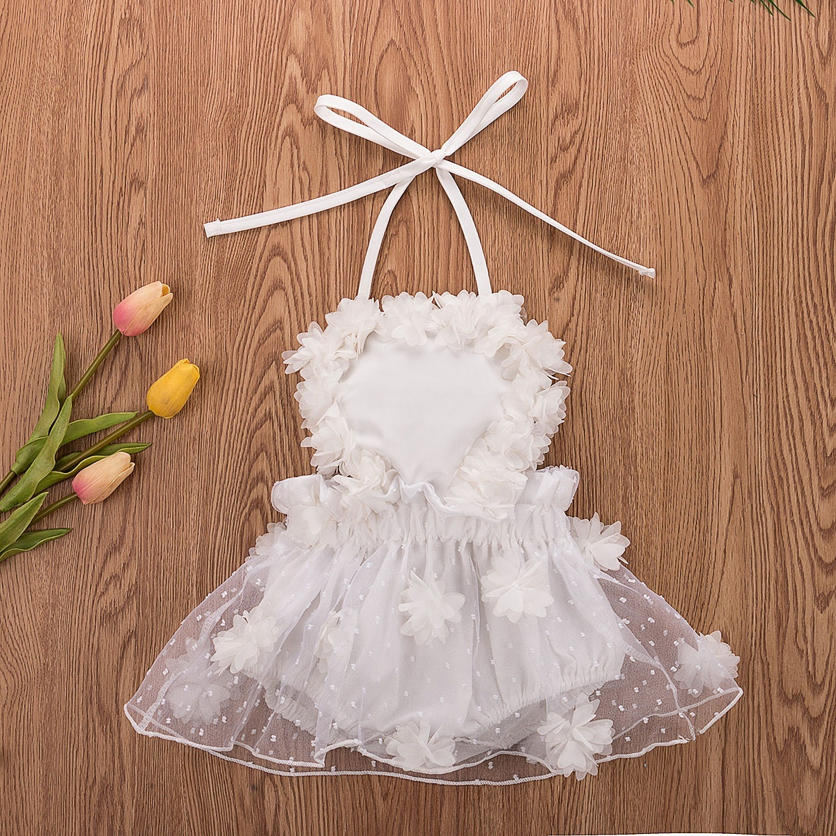 Baby Girls Lace Romper Flutter Sleeve Bodysuit Jumpsuit Outfit Clothes Xmas Gift