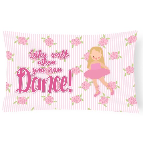 Zoomie Kids Bernadette Ballet Long Hair Lumbar Pillow