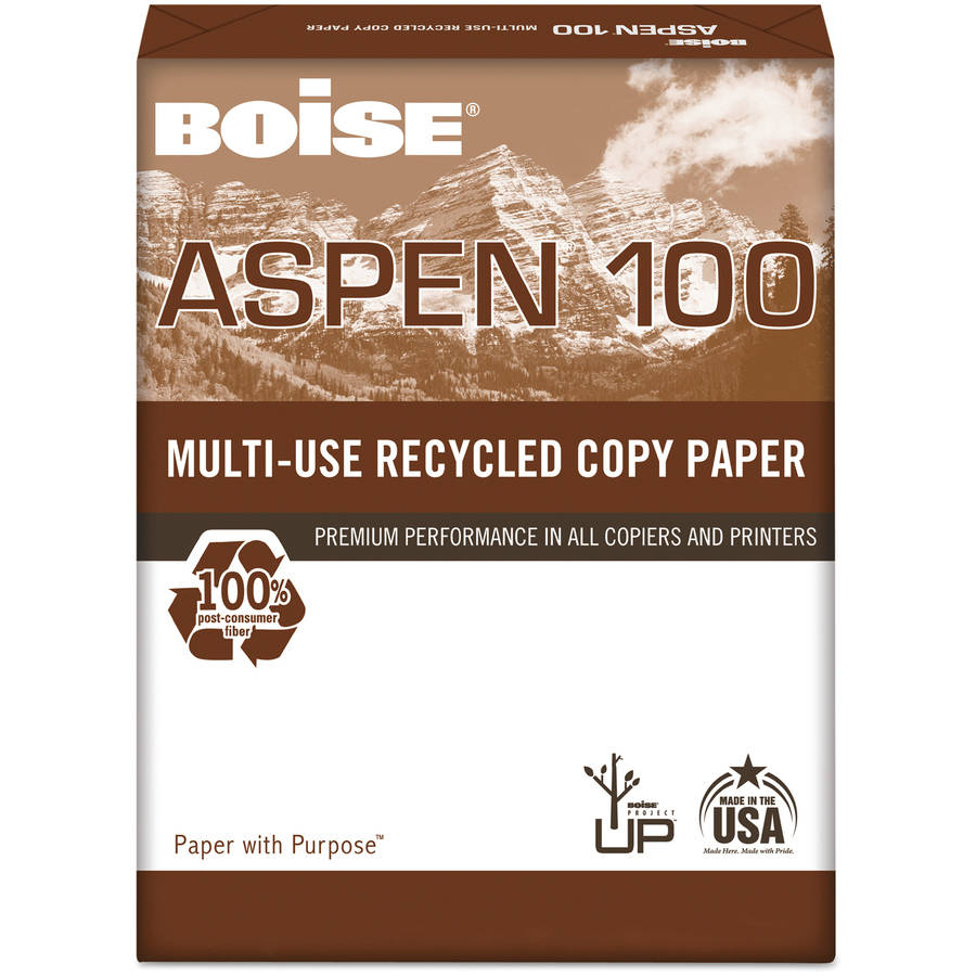 "Boise ASPEN 100 Office Paper, 8-1/2"" x 11"", 5000 Sheets per Carton"
