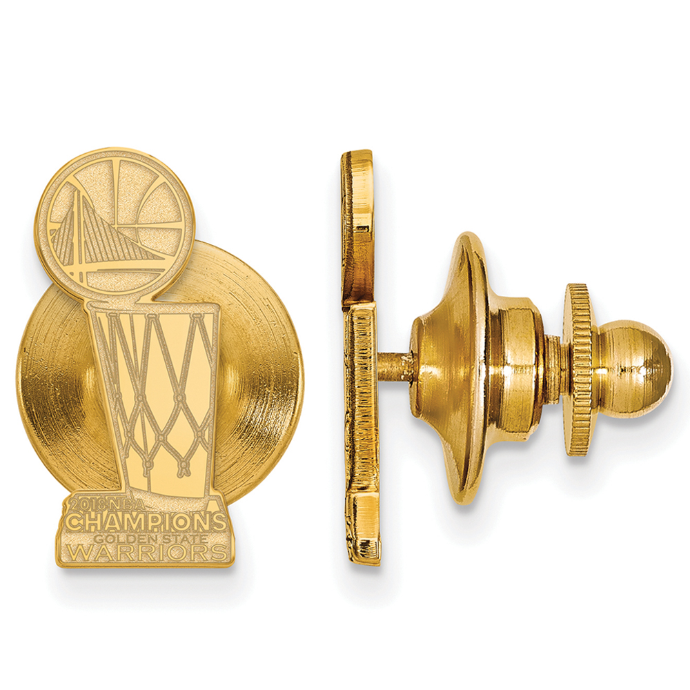Golden State Warriors 2018 NBA Finals Champions Tie Tack - Gold - No Size