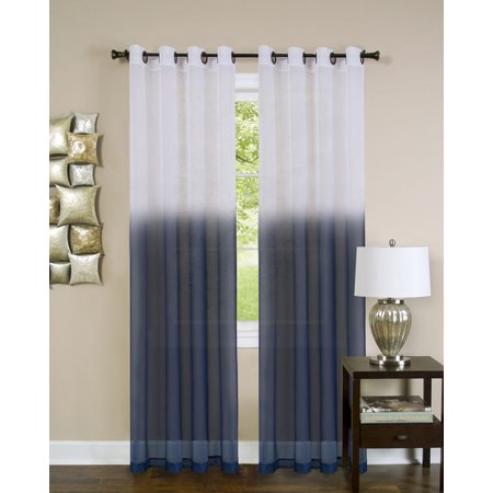 Achim Essence Window Curtain Panel (sheer tan and red curtains)