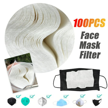 100PCS Disposable medical Face Masks Gasket Safety Health Care Mouth Face Mask Filter Pad - image 1 of 8