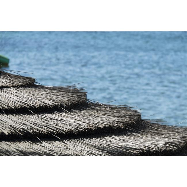 Posterazzi DPI12269135LARGE Architectural Details of A Thatched Roof at The Waters Edge - Paphos Cyprus Poster Print - 38 x 24 in. - Large - image 1 de 1