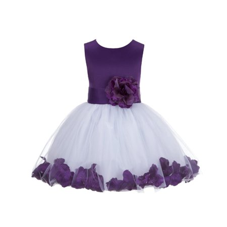 9af8681eeb Ekidsbridal Rose Petals Flower Girl Dress Tulle Bridesmaid Wedding Pageant  Toddler Recital Easter Holiday Communion Birthday Baptism Special Occasions  ...
