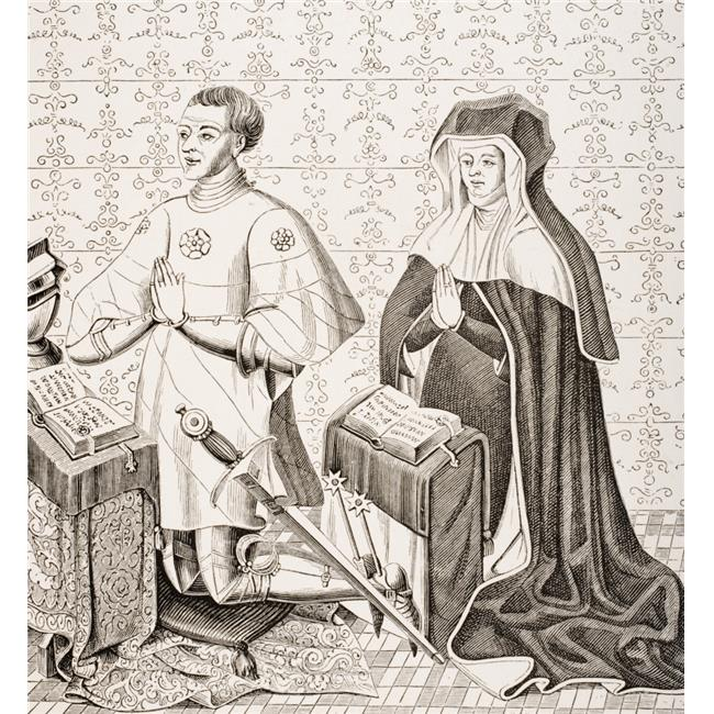 Jean Jouvenel Des Ursins Provost of The Merchants of Paris & His Wife Poster Print, Large - 28 x 30 - image 1 de 1