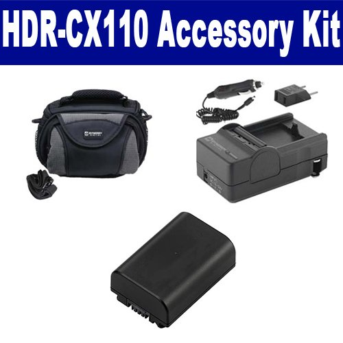 Sony HDR-CX110 Camcorder Accessory Kit includes: SDM-109 ...