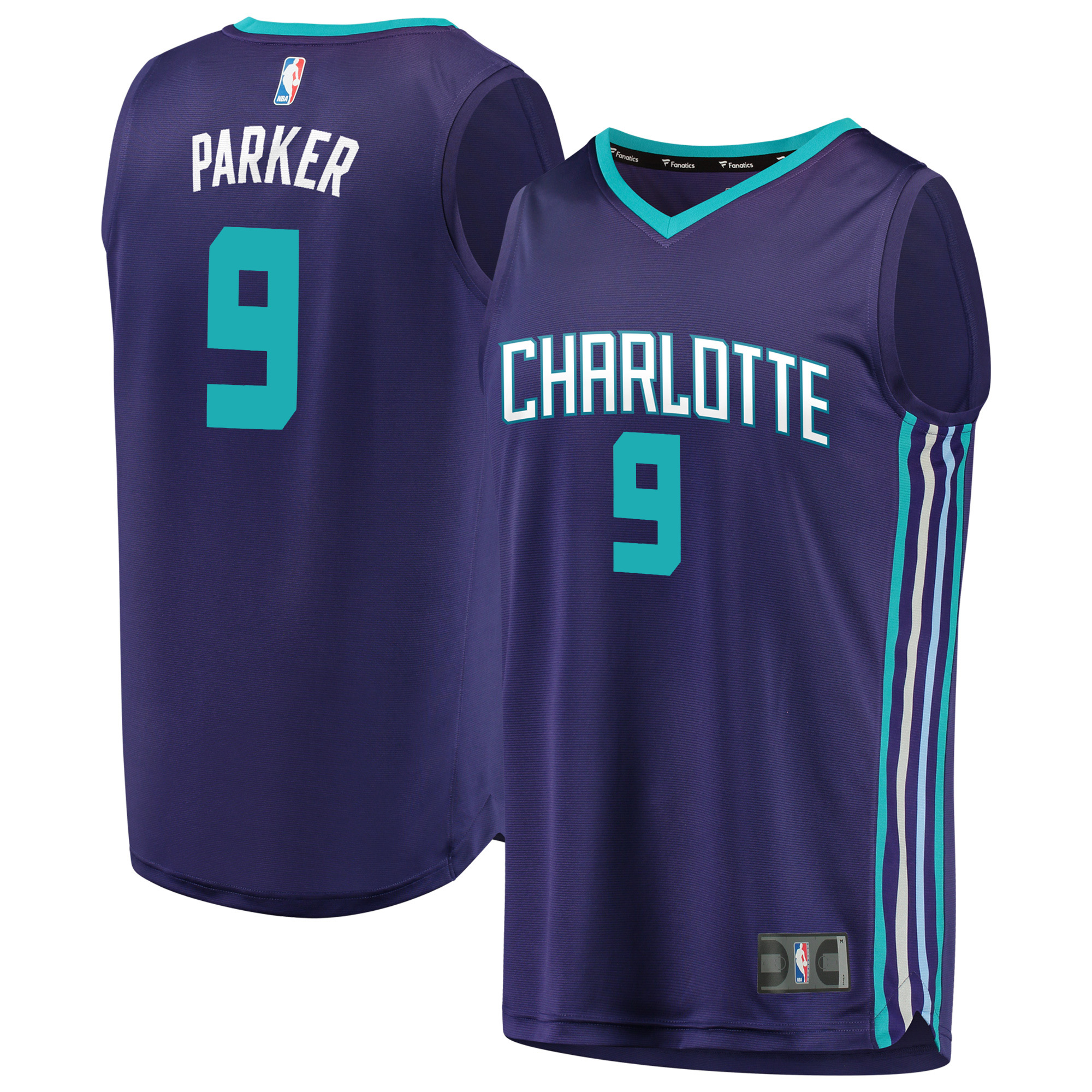 Tony Parker Charlotte Hornets Fanatics Branded Fast Break Replica Player Jersey - Statement Edition - Purple