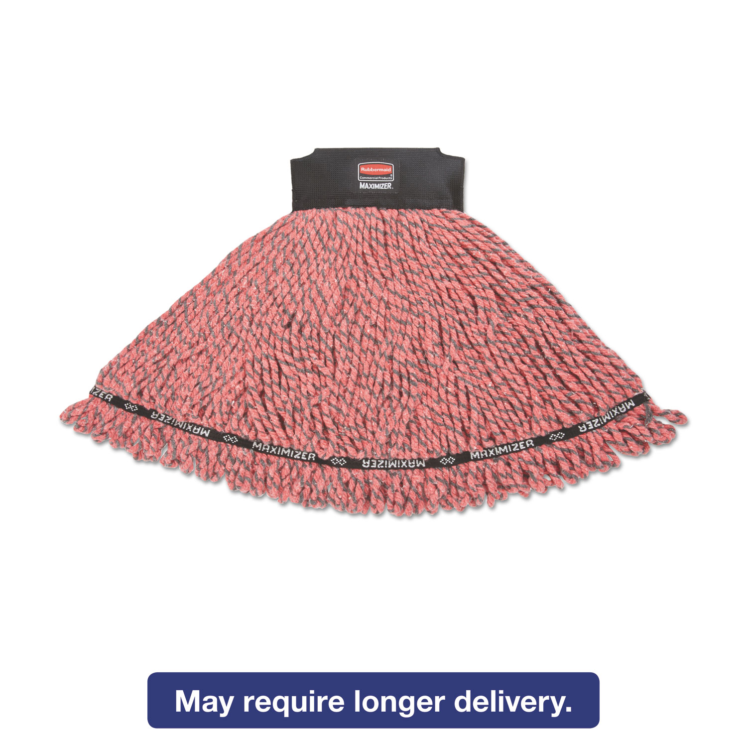 Maximizer Microfiber Mop Heads, Medium, Red, 6/Carton