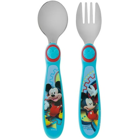 The First Years Disney Mickey Mouse Clubhouse Fork & Spoon BPA-Free 1ct
