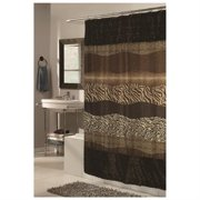 """Shower Stall-Sized, EZ-ON? """"Wild Encounters"""" Polyester Shower Curtain"""